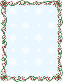 Candy Cane Border Stock Photo