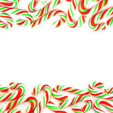 Candy cane border Royalty Free Stock Photography