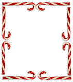 Candy Cane Border Fotografia Stock