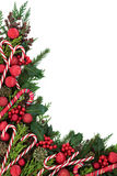 Candy Cane Border Immagine Stock