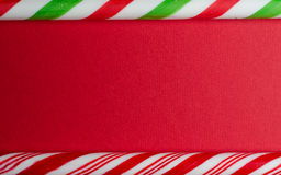 Candy cane border Royalty Free Stock Images