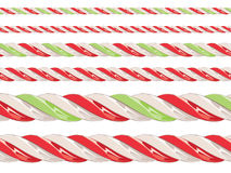 Candy Cane Borders stock illustration