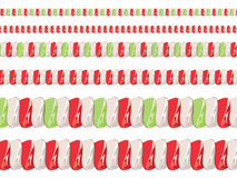 Candy Cane Borders Stock Photography
