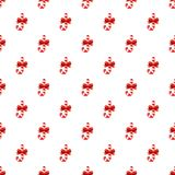 Candy cane with bow pattern Stock Photo