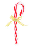 Candy Cane with Bow Ribbon Royalty Free Stock Photos