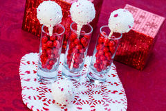 Candy Cane Cake Pops Stock Photography