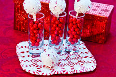Candy Cane Cake Pops Royalty Free Stock Photo