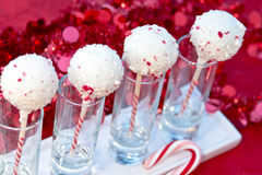 Candy Cane Cake Pops Stock Images