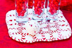 Candy Cane Cake Pops Stock Photos
