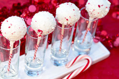 Candy Cane Cake Pops Royalty Free Stock Photography