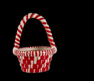 Candy cane candle basket Stock Images