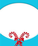 Candy Cane Card Frame 2 Royalty Free Stock Photo