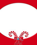 Candy Cane Card Frame 3 Royalty Free Stock Photography