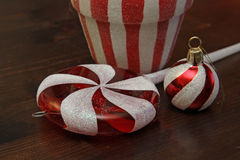 Candy Cane Christmas Decorations Stock Photo