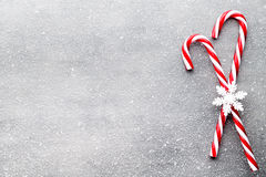 Free Candy Cane. Christmas Decors With Gray Background. Stock Photo - 77647080