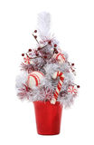 Candy cane Christmas tree Royalty Free Stock Photos
