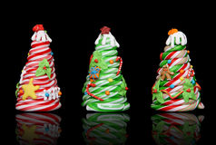 Candy Cane Christmas Trees Royalty Free Stock Image