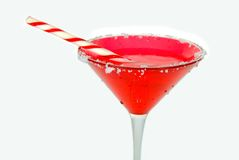 Candy Cane Cocktail Stock Photo