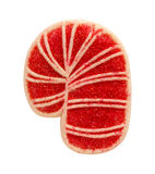 Candy Cane Cookie with sprinkles Royalty Free Stock Photos