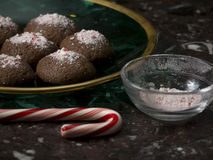 Candy Cane Cookies Royalty Free Stock Images