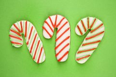 Candy cane cookies. Stock Images