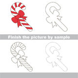 Candy Cane. Drawing worksheet. Stock Photography