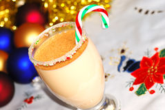 Candy cane Egg nog Stock Image