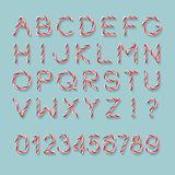 Candy Cane Font royalty illustrazione gratis
