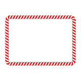 Candy Cane Frame Stock Image