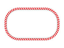 Candy Cane Frame. Frame made of candy cane stock illustration