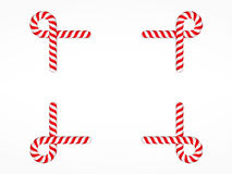 Candy Cane Frame Stock Photography