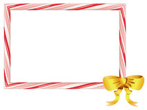 Candy Cane Frame. Frame made of sweet tasty candy cane illustration Royalty Free Stock Image
