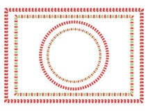 Candy Cane Frame. Frame made of sweet tasty candy cane illustration Royalty Free Stock Photo