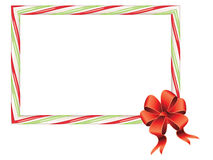 Candy Cane Frame. Frame made of sweet tasty candy cane illustration Stock Photography