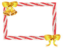 Candy Cane Frame. Frame made of sweet tasty candy cane illustration Stock Image