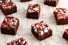 Candy Cane Fudge Stock Images