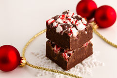 Candy Cane Fudge Royalty Free Stock Photos