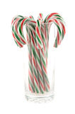 Candy cane in glass Royalty Free Stock Photos