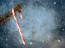 Candy cane hanging with texture. Stock Photography