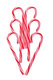 Candy Cane Heart. Holiday Candy Cane Heart isolated on white background Royalty Free Stock Images
