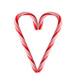 Candy Cane Heart. Candy Canes in a heart shape royalty free stock photos
