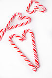 Candy Cane Heart Fotografie Stock