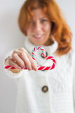 Candy Cane Heart Royalty Free Stock Photography