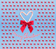 Candy cane heart design with Merry Christmas text Royalty Free Stock Photo
