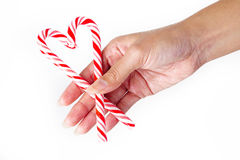 Candy cane heart Stock Photo