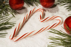 Candy Cane Heart Royalty Free Stock Images