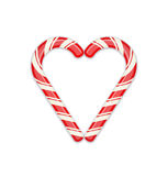 Candy cane heart symbol Stock Photos