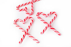 Candy cane heart on white Royalty Free Stock Photo