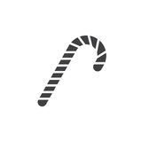 Candy cane icon vector, peppermint stick filled flat sign, solid. Pictogram isolated on white, logo illustration vector illustration