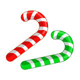 Candy cane isolated Royalty Free Stock Photo